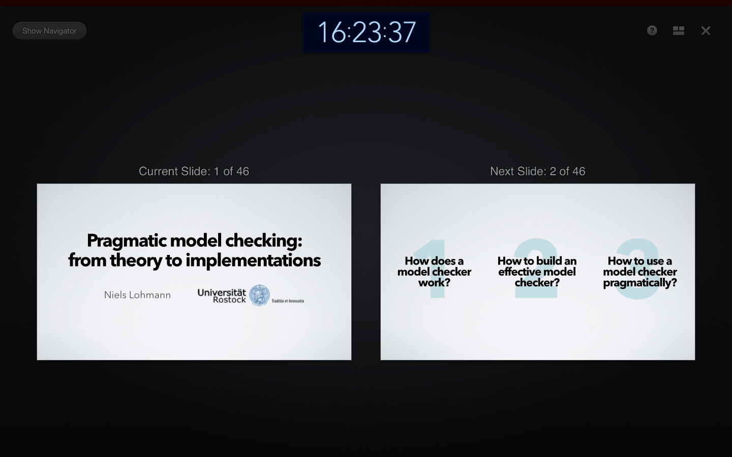 Presenter-Tools in Keynote